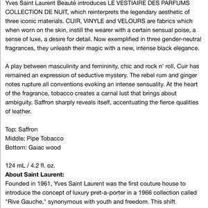 Yves Saint Laurent Makeup - NEW YSL cuir eau de parfum 4.2oz